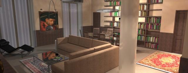 Opere interne e arredamento di un appartamento in via Terraggio a Milano