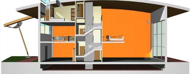 Intervento di ristrutturazione edilizia con cambio di destinazione d'uso abitativo di un capannone industriale a Garbagnate Milanese (MI)