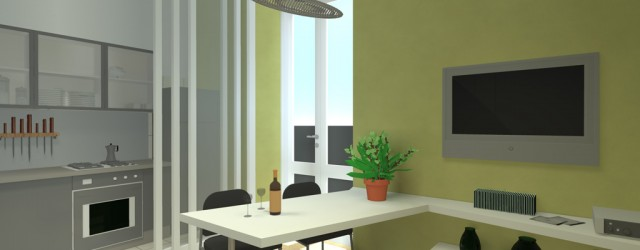 Opere interne e arredamento di un appartamento in via Ravizza a Milano